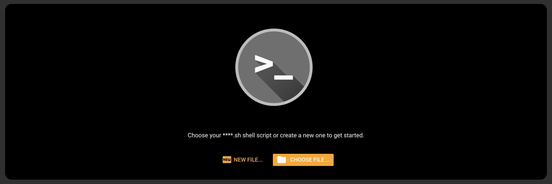 Choosing a bash file