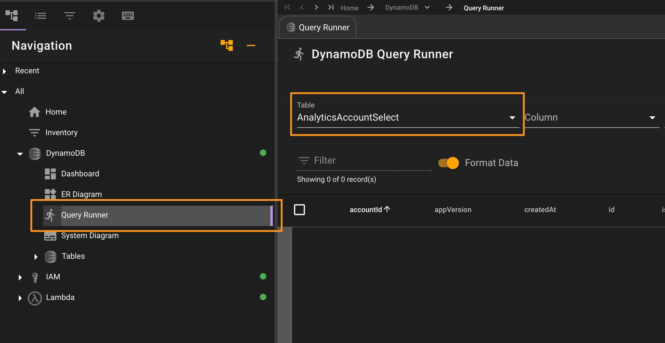DynamoDB Query Runner