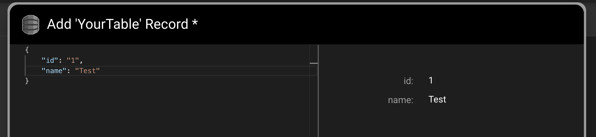 Previewing DynamoDB record as you type