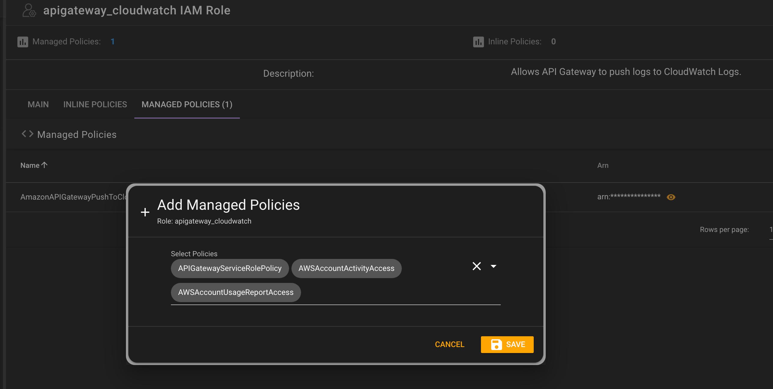 IAM Editing Manage Policies