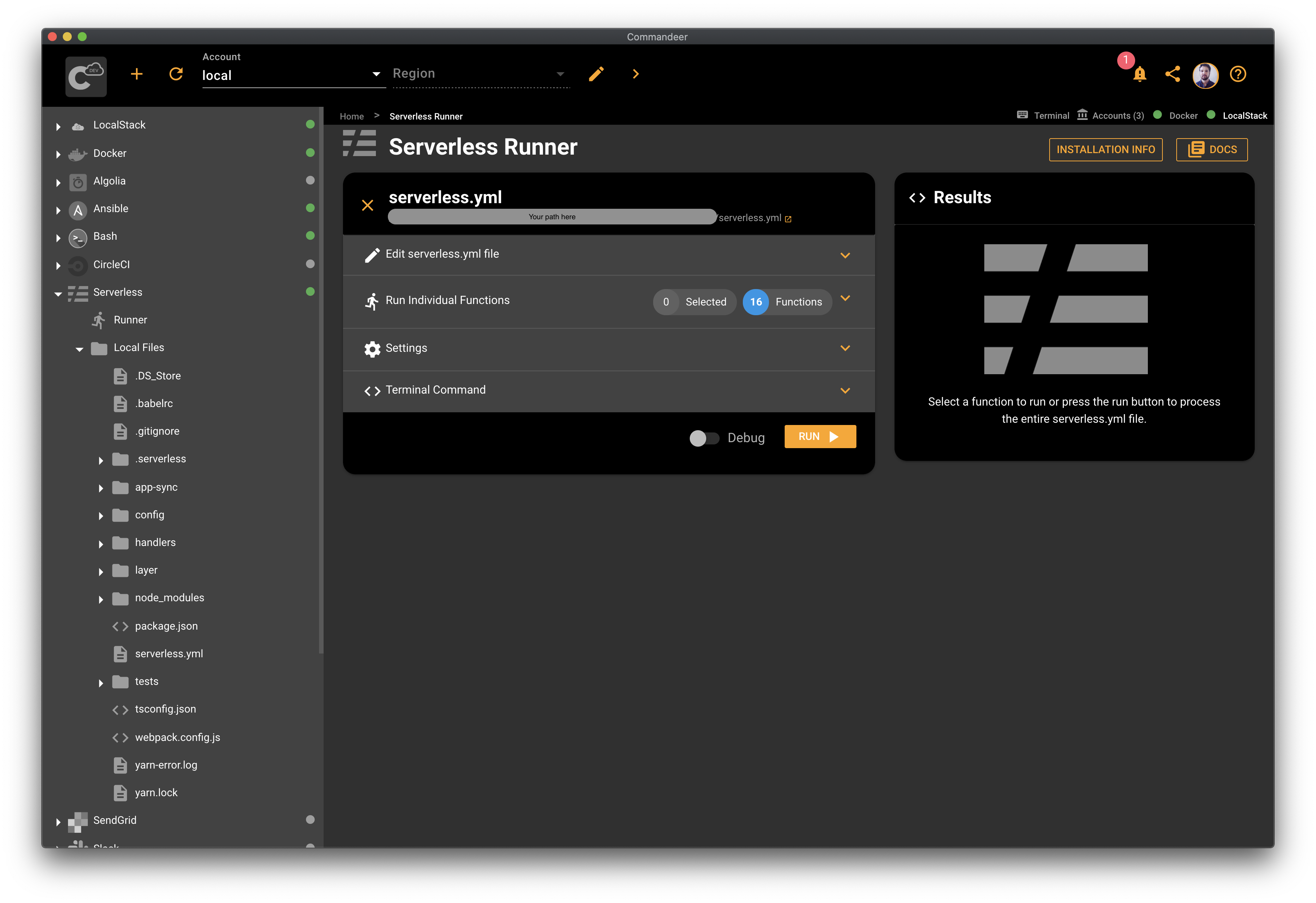 Serverless Runner GUI ready for deploy