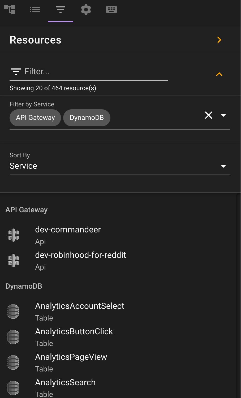 Commandeer Resources Side Navigation
